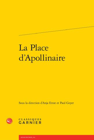 La Place d Apollinaire couverture